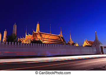 Grand palace at night, Thailand