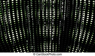 abstract number scrolling across the screen,data code...