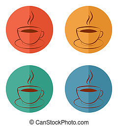 Cup of hot drink icon coffee, tea, cocoa, chocolate, etc