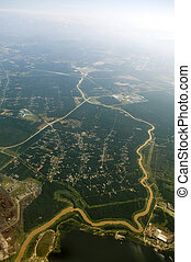 Aerial View. - Aerial view over a rural area at Malaysia.