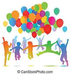 Children birthday with balloon