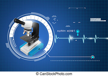 microscope on abstract background