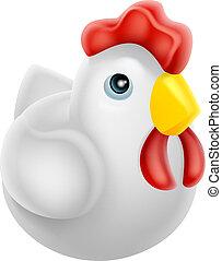 Cartoon chicken icon