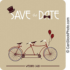 Save the Date retro poster