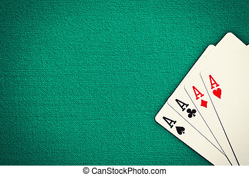 four aces on green casino table - the four aces on green...