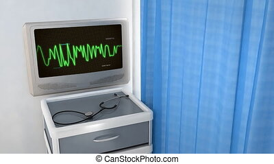 wave code in screen - the graphic of ekg monitor for medical...