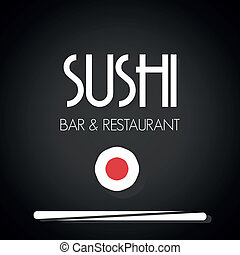 Sushi restaurant menu card
