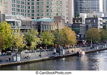 Melbourne Southbank - Victoria - MELBOURNE - APR 13,...