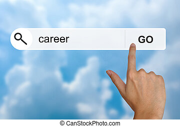 career on search toolbar - career button on search toolbar
