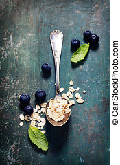 Breakfast with oats and berries - Healthy BreakfastOat...