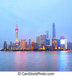 Shanghai (Pudong New Area) at night, China