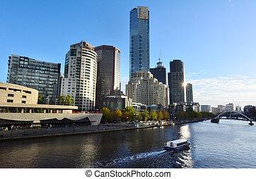 Melbourne Southbank - Victoria - MELBOURNE - APR 14, 2014:...