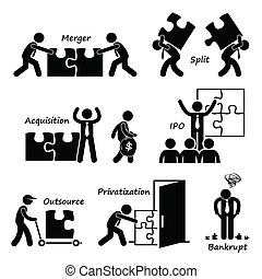 Corporate Company Cliparts - A set of human pictogram...