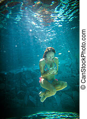 Young Woman Underwater Picture
