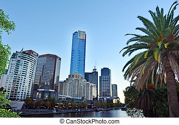 Melbourne Southbank - Victoria - MELBOURNE - APR 14, 2014:...