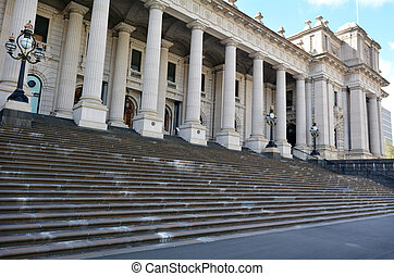 Parliament House - Melbourne - MELBOURNE - APR 14,...