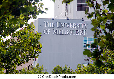 University of Melbourne - MELBOURNE - APR 14, 2014:The faced...