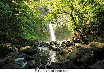 La Fortuna Waterfall aka Catarata Fortuna, Alajuela...