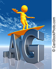 AG Top Level Domain - Computer generated 3D illustration...