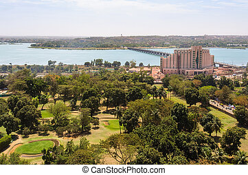 Bamako in Mali - View of Bamako and the Niger River in Mali