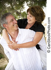 Beautiful mature couple in love - Beautiful mature couple...