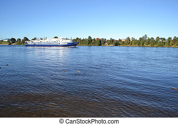 View of Neva river,