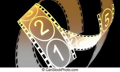 Movie Film footage with digital numbers.abstract multimedia...