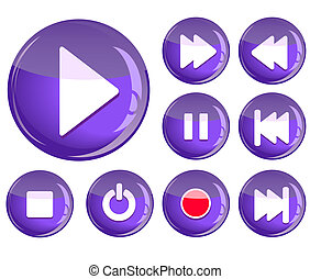 set of play icons