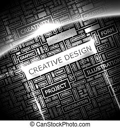 CREATIVE DESIGN Background concept wordcloud illustration...