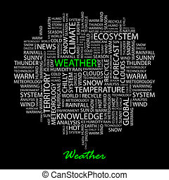 WEATHER. Word cloud concept illustration. Wordcloud collage.