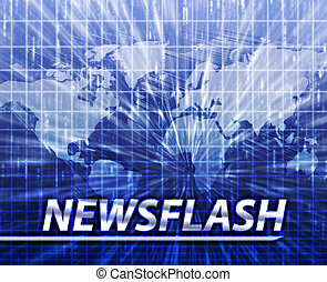 News splash screen - Latest breaking news newsflash splash...