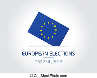 European Elections - Vector illustration about the European...
