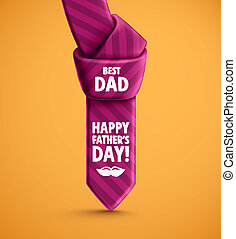Happy Fathers Day - Tie, Fathers Day, eps 10