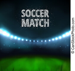 Soccer match, stadium, eps 10