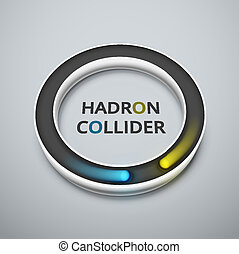 Hadron collider - Abstract hadron collider, eps 10