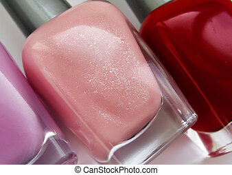 Nails polish - Lilac, pink, purple