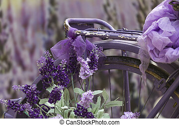 bicycle with lavender