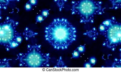Blue Kaleidoscopic Loop 33R - Blue Kaleidoscopic Looping...