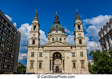 St. Stephen's Basilica, the largest church in Budapest,...