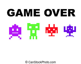 Space invaders game over - Space invaders with game over,...