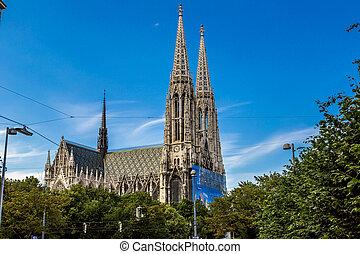 Vienna, Austria - famous Votivkirche ,Votive Church - Vienna...