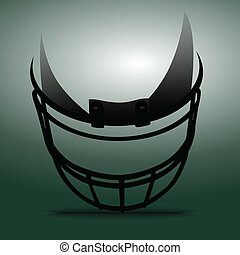 American Football Helmet - Abstract American football helmet...