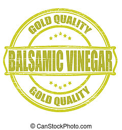 Balsamic vinegar - Stamp with text balsamic vinegar...