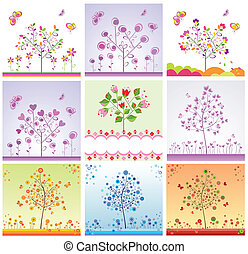 Cards with funny trees