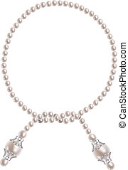 Pearl necklace - Jewel in the form of pearl necklace
