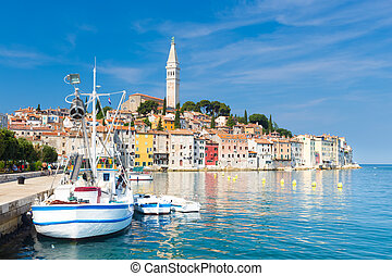 Coastal town of Rovinj, Istria, Croatia - Rovinj is a city...