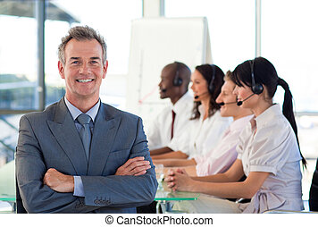 Business manager in a call center - Senior business manager...