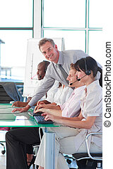 Business manager in a call center