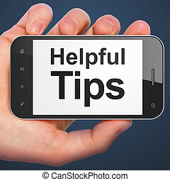 Education concept: Helpful Tips on smartphone - Education...
