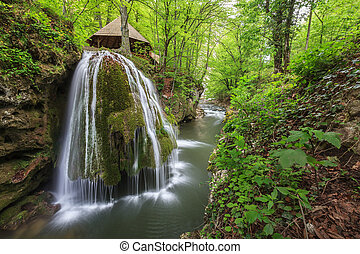 Bigar Cascade Falls in Nera Beusnita Gorges National Park,...